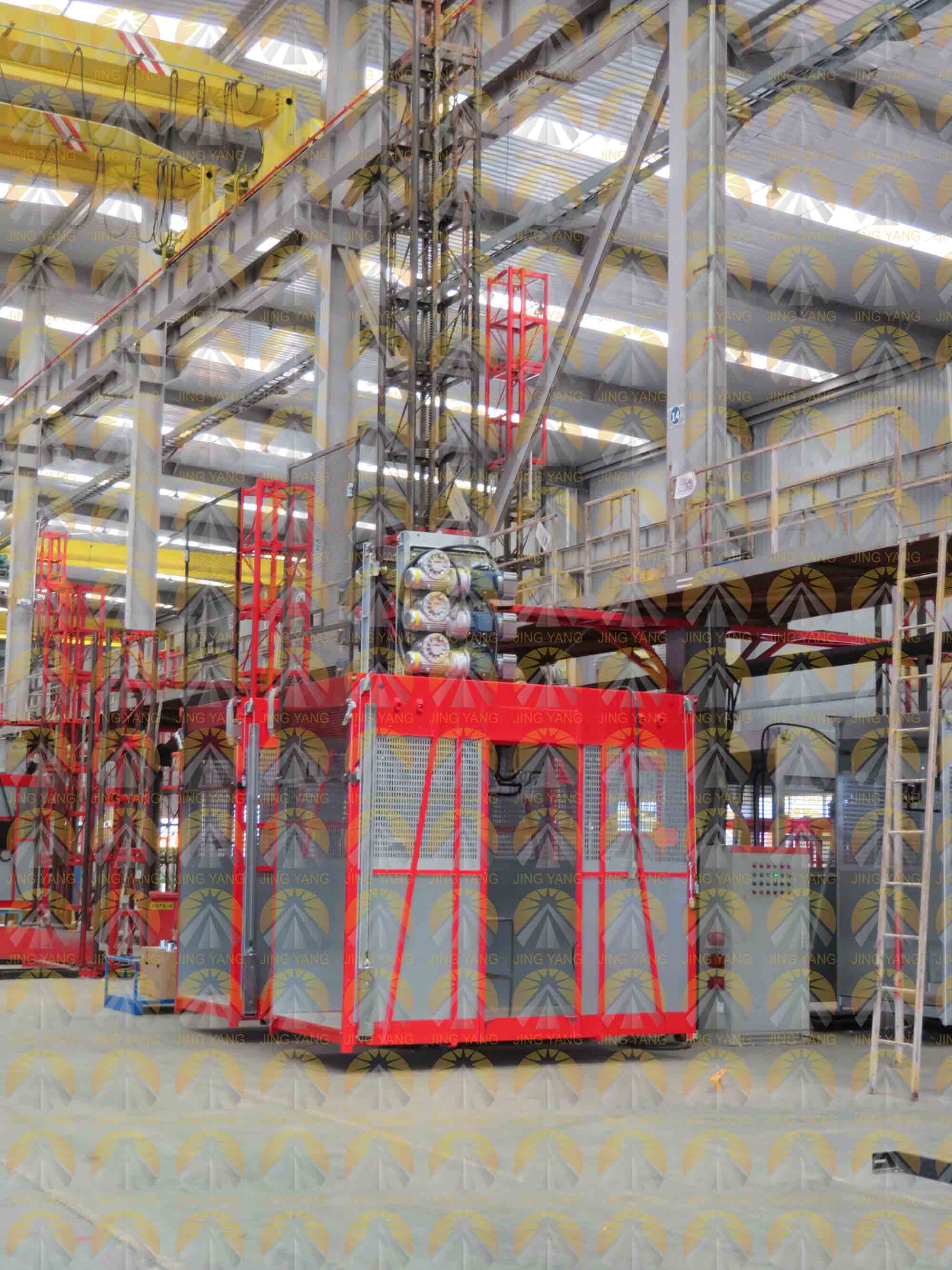 Finished GJJ passenger hoist during test